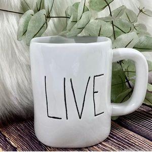 """Rea Dunn Collection """" LIVE """" Word Mug White Black"""